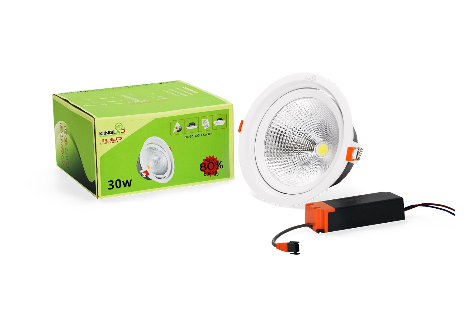 Đèn dowlight Kingled spot light DLR-30-T180 tròn