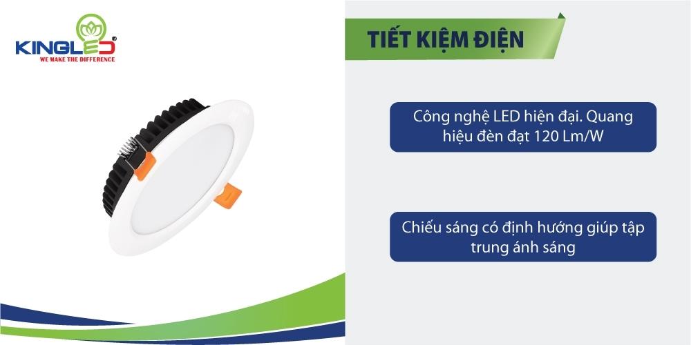 Đèn DL-8-T120-DM tiết kiệm điện