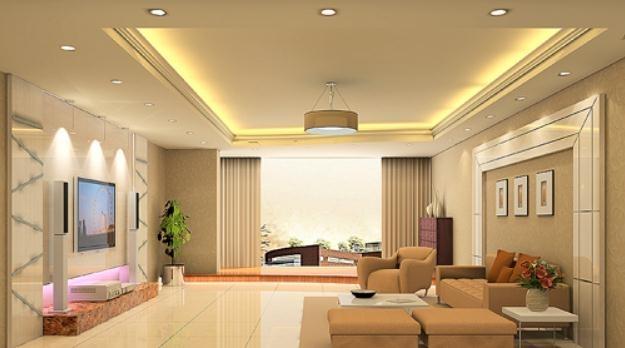 Đèn led âm trần cho phòng khách ấn tượng