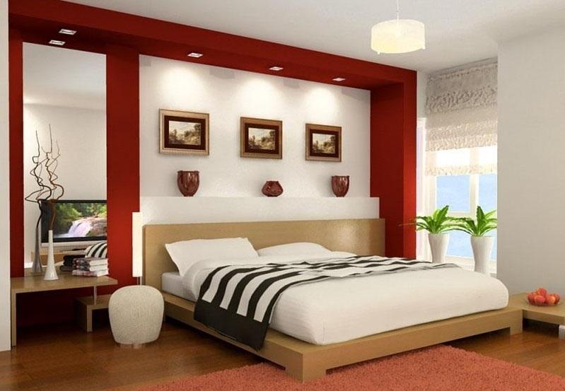Phòng ngủ đẹp hơn với đèn led âm trần thạch cao