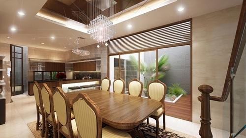 Đèn led âm trần làm tiện nghi hơn không gian nhà bếp